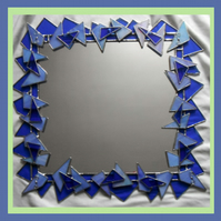 Stained Glass - Blue 'Ice' Mirror