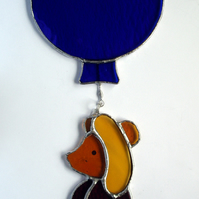 Stained Glass Winnie the Pooh Nursery mobile or hanging