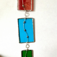 Stained Glass hanging for window, wall or garden