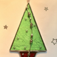 Small stained glass Christmas Tree decoration
