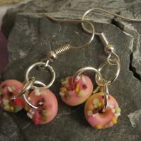 Sweet strawberry doughnut earrings - yummy!