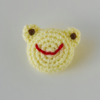 Yellow Frog Brooch
