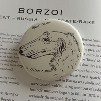 Original Pen Drawn Dog Badge.