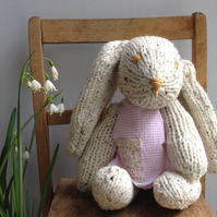 Knitted Bunny called Petal
