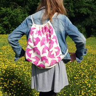 Hand printed Whippet backpack...made to order