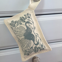 Hand Printed Grey Reflections Lavender Sachet