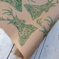 Hand Printed Luxury Christmas Gift wrap