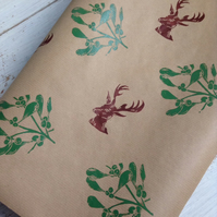 Luxury hand Printed Christmas Gift Wrap