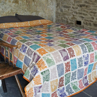 Hand Printed Quilt named Saffron