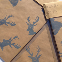 Hand Printed Luxury Gift Wrap