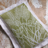 Hand Printed Hare lavender Sachet