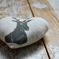 Hand printed Stag lavender sachet