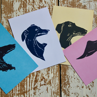 Hand Printed Dog Postcards