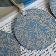 Set of three dormouse gift tags