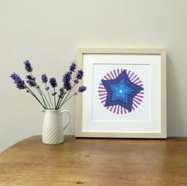 Purple Star Screen Print