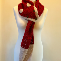 Fox Scarf - red and brown