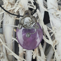 Amethyst and Moonstone Pendant