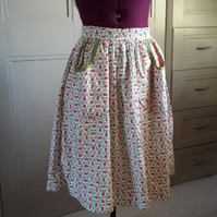 Ladies apron made from cotton vintage style fabric