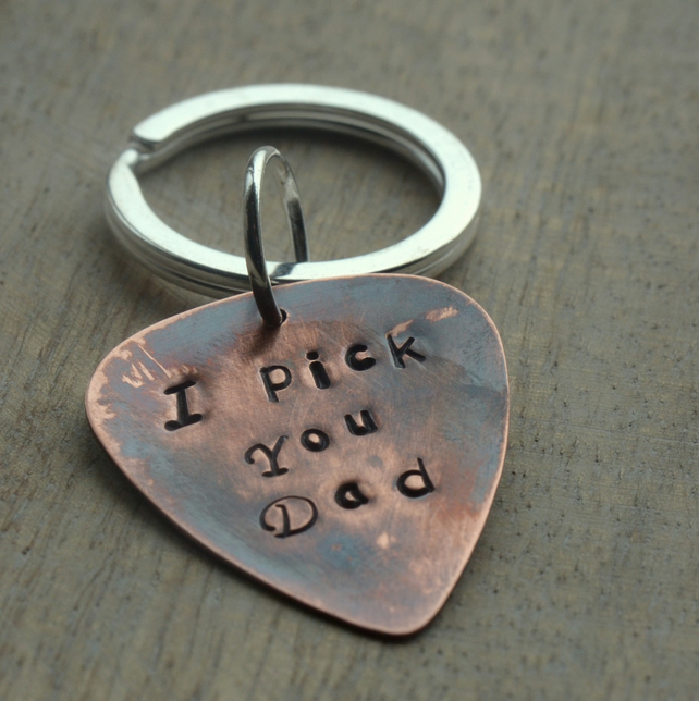 I Pick You Dad Personalised Hand Stamped Copper Folksy