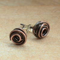 Handmade Copper Stud Earrings