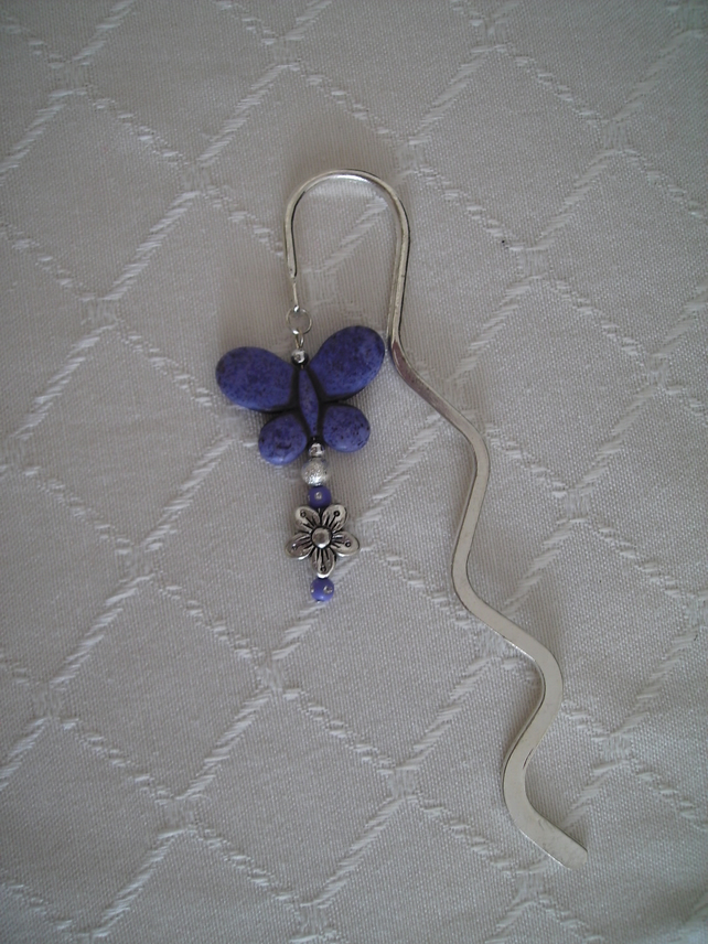 WIGGLY BOOKMARK (GENUINE GEMSTONE BUTTERFLY)