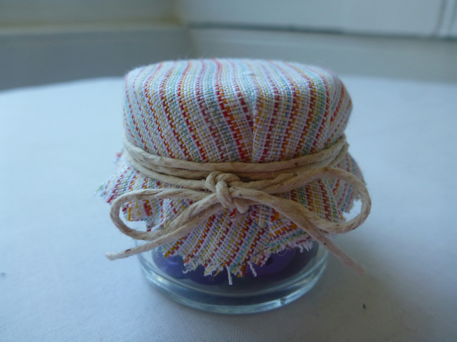 Recycled Button Jar - Purple - Craft and Sewing