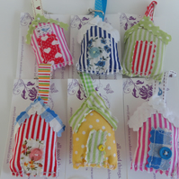 beach hut keyring - Christmas gift