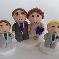 custom made wedding cake topper group
