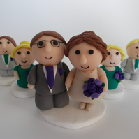 personalised wedding cake topper group