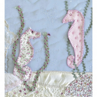 Seahorses picture - print for a baby girl or boy christening