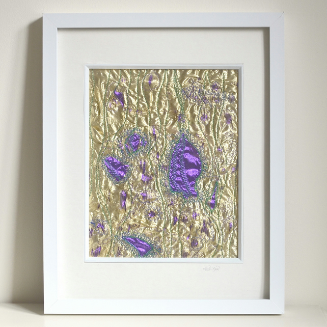 Special offer - Abstract textile picture - Harebells