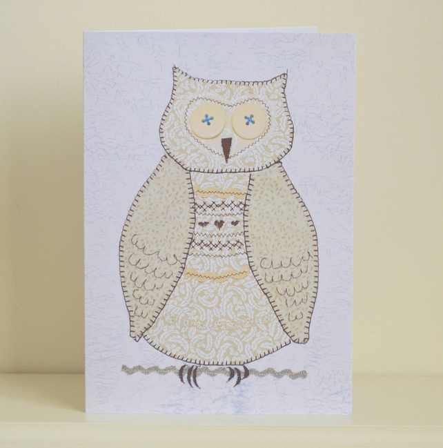 Birthday card - Brown Owl card