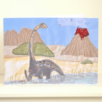 Birthday Dinosaur volcano card