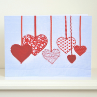 Red heart birthday card