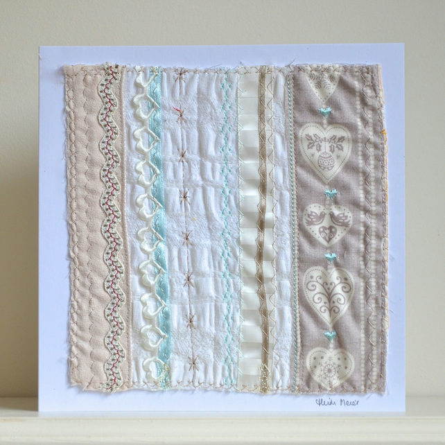 Handcrafted Wedding card