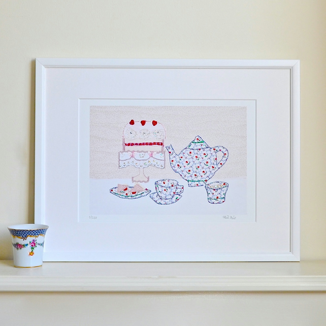 Time for Tea picture - mounted 12 x 16 inch afternoon tea print