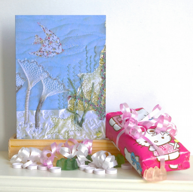 Anemone card - blank so use for birthday, thank you, new baby, invitation etc
