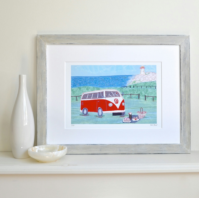 Personalised Campervan picture - personalise the number plate