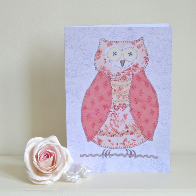 Girl's birthday card - owl