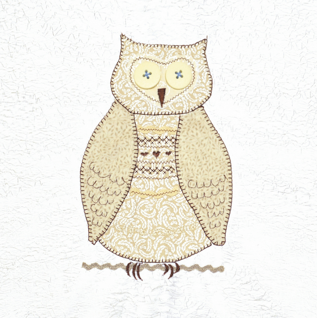 Owl picture - unframed A4