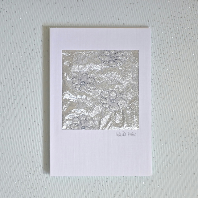 Birthday card - textile keepsake