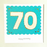 Birthday card - personalised number age