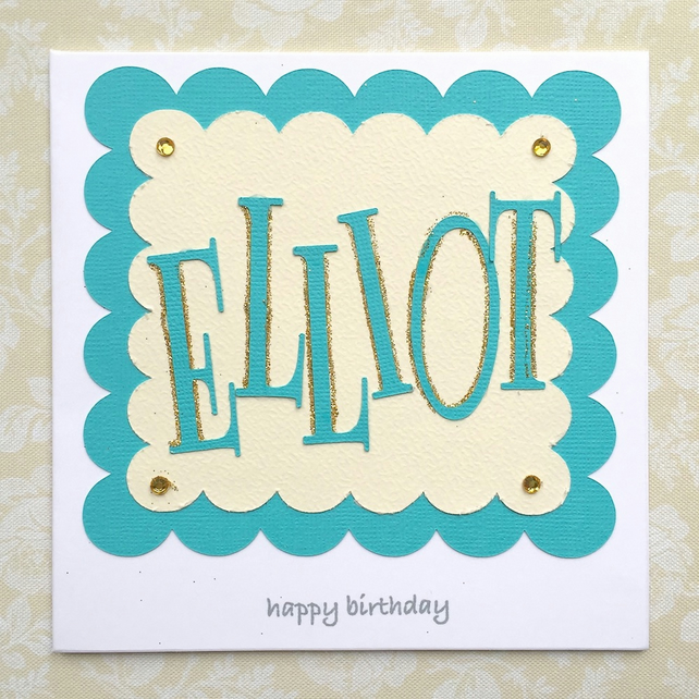 Birthday card - personalised name