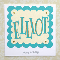 Birthday card - personalised