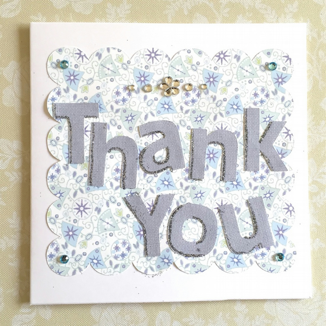 Thank you card - handmade