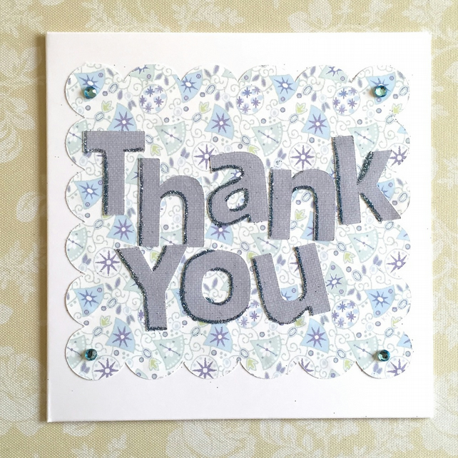 SALE Thank you card - reduced from 1.95 - teachers, Christmas, gift etc