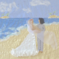 Wedding card - beach