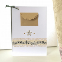 Sale Birthday card - money wallet music theme musical degree congratulations