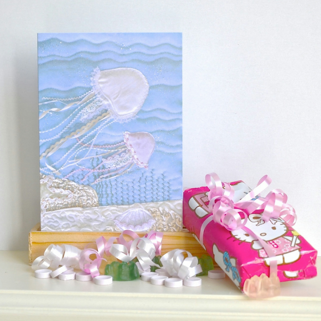 Jellyfish birthday card