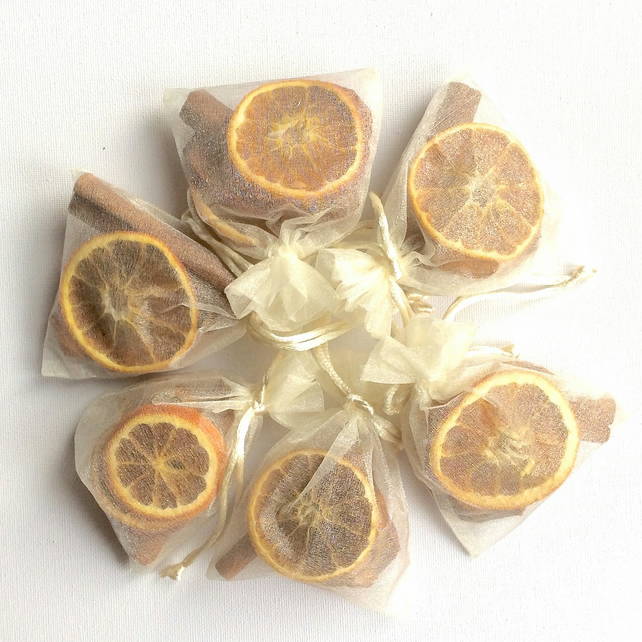 SALE Christmas decorations - scented orange and cinnamon